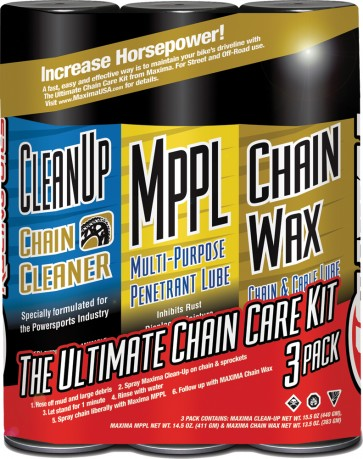 Maxima Ultimate Chain Wax Care Kit 3/Pk