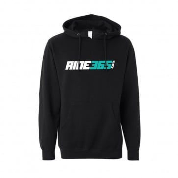 RIDE365 Mens Classic Pullover Hoodie - Teal Logo