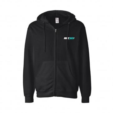 RIDE365 Mens Classic Zip Hoodie - Teal Logo