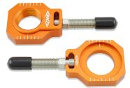 Bolt Chain Adjuster Blocks KTM Orange