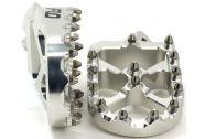 Flo Motorsports Pro Series Foot Pegs Silver