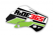 RIDE365.com Radiator Shroud Graphics Kawasaki