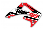 RIDE365.com Radiator Shroud Graphics Honda