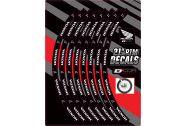 """D Cor Rim Decals 21"""" Honda Logos Front"""