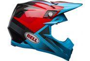 Bell Moto-9 Flex Helmet, Hound Matte/Gloss Cyan/Red
