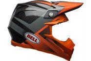 Bell Moto-9 Flex Helmet, Hound Matte/Gloss Orange/Charcoal