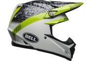 Bell Moto-9 MIPS Helmet, Chief Matte/Gloss Black/White/Green