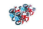 Brett Cue Cartoon Sticker - 3 Pack