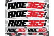 RIDE365.com Sticker Sheet